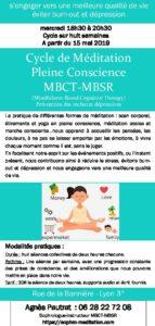 cycle méditation MBCT-MBSR @ Rue de la Bannière | Lyon | Auvergne-Rhône-Alpes | France