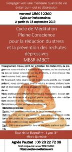 cycle méditation réduction du stress MBCT-MBSR @ Rue de la Bannière   Lyon   Auvergne-Rhône-Alpes   France